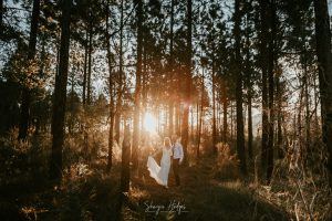 Lindsey and Mark's rustic forest wedding took place in the tranquil Nature's Valley. Photography by Sharyn Hodges.