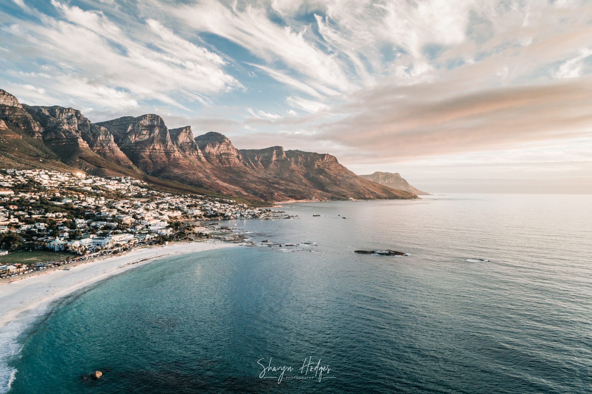 Maidens Cove at Camps Bay in Cape Town by Sharyn Hodges