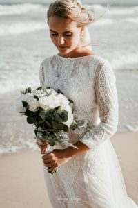 """Milano & Christopher said their """"I Do's"""" during an intimate beach wedding at the De Vette Mossel in Groot Brak - Sharyn Hodges"""
