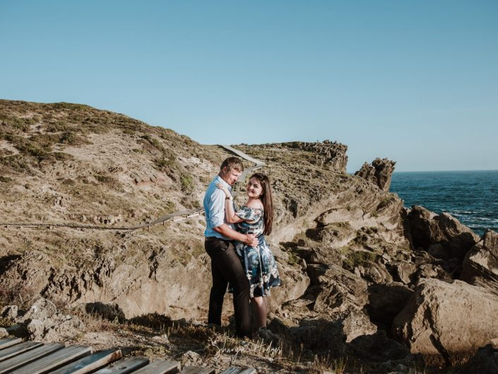surprise engagement shoot, garden route photographer, Sharyn Hodges, Robberg nature reserve, couple photography