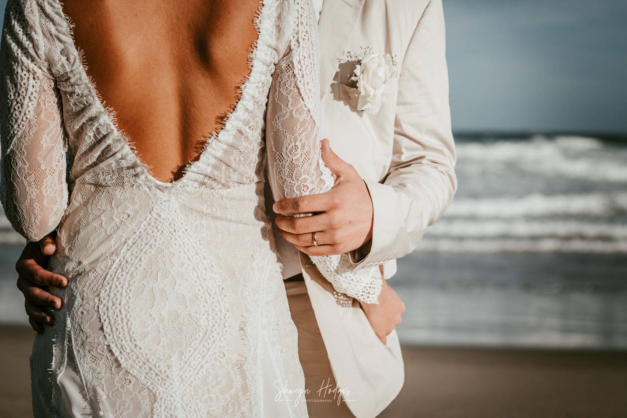 "Milano & Christopher said their ""I Do's"" during an intimate beach wedding at the De Vette Mossel in Groot Brak - Sharyn Hodges"
